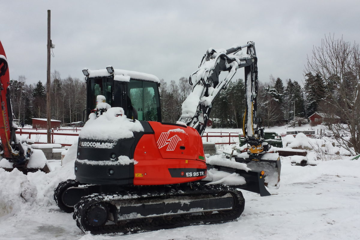 An excavator in action