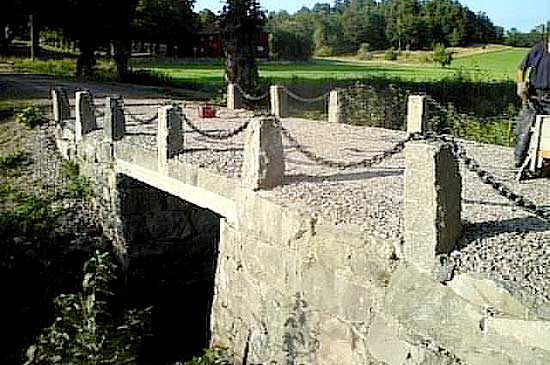 A bridge made of stone